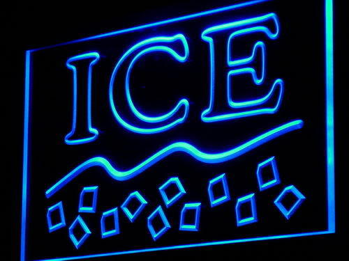 Ice Supplier Supply Shop Maker Logo Light Sign